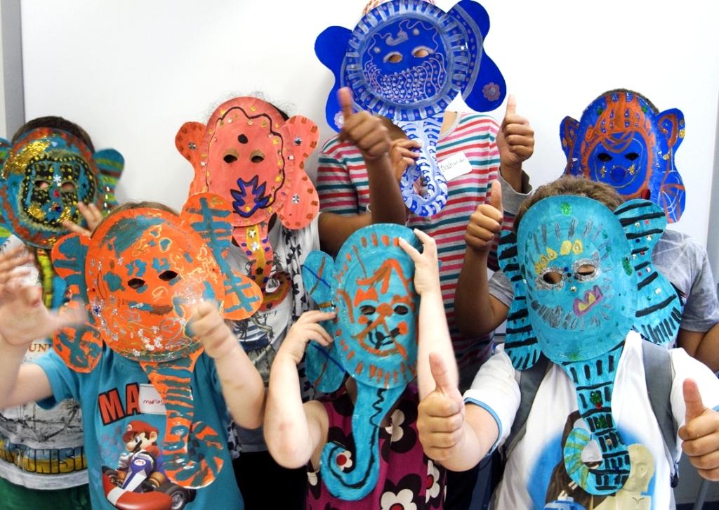Indian elephant masks